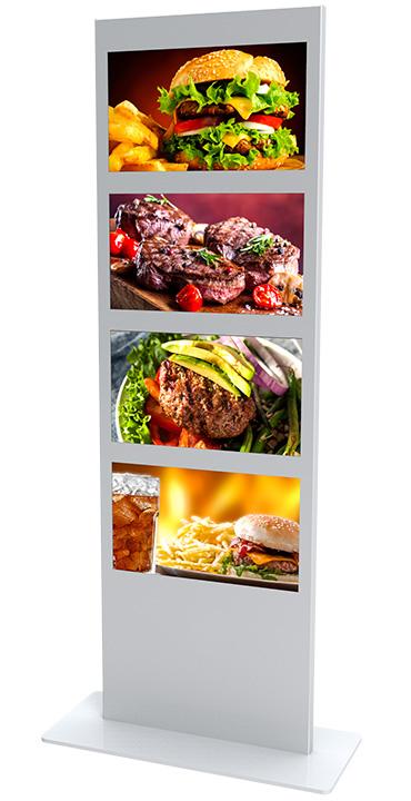 Totem vidéo pour menu de restaurant